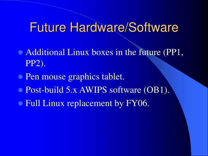 Future Hardware/Software