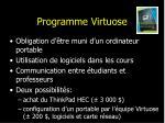 programme virtuose