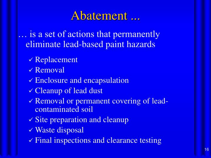 Ppt controlling lead based paint hazards powerpoint for Lead based paint inspection
