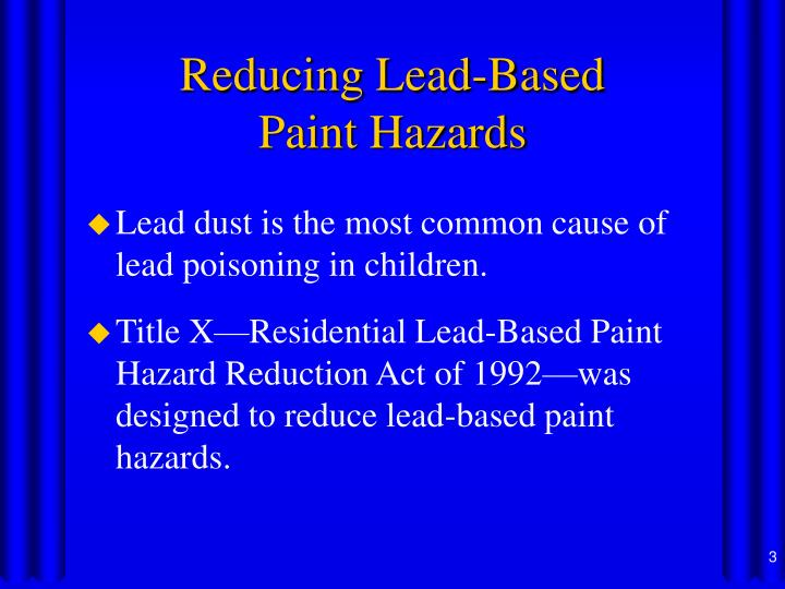 ppt controlling lead based paint hazards powerpoint