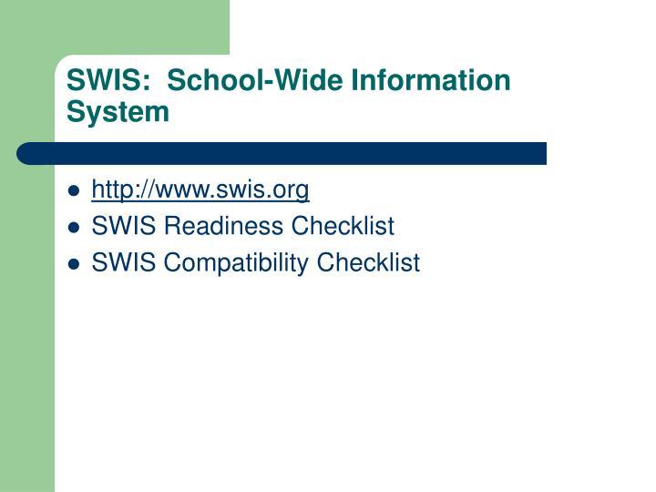 SWIS:  School-Wide Information System