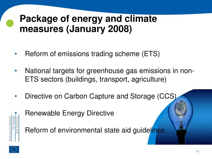 Package of energy and climate measures (January 2008)