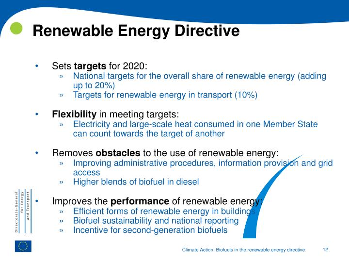 Renewable Energy Directive