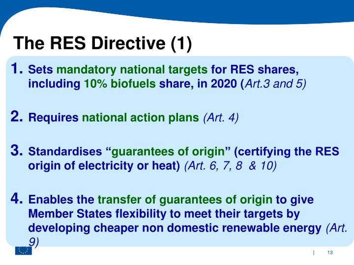 The RES Directive (1)