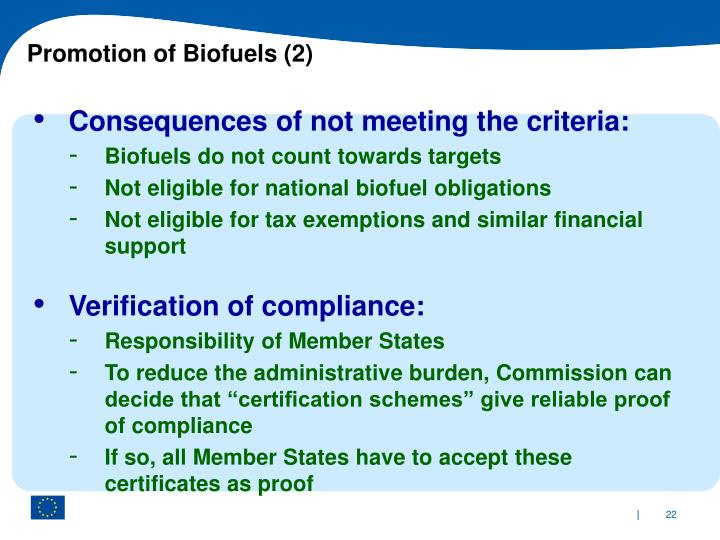 Promotion of Biofuels (2)