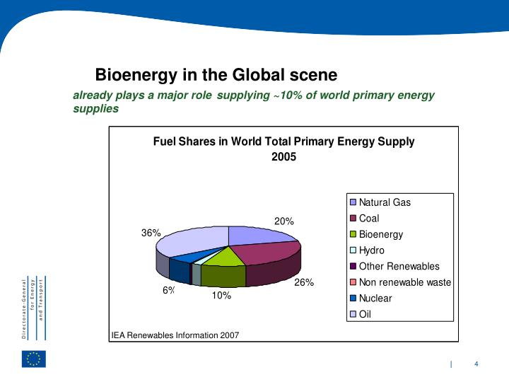 Bioenergy in the Global scene