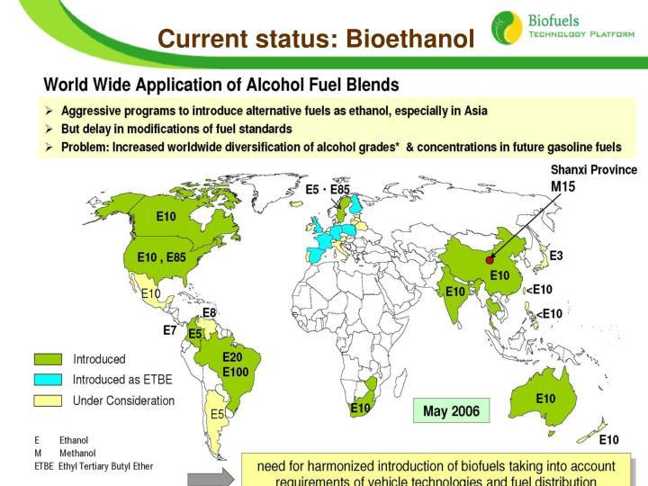 Current status: Bioethanol
