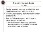 property acquisitions fsu tags