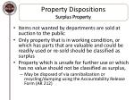 property dispositions surplus property