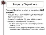 property dispositions3