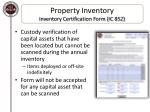 property inventory inventory certification form ic 852