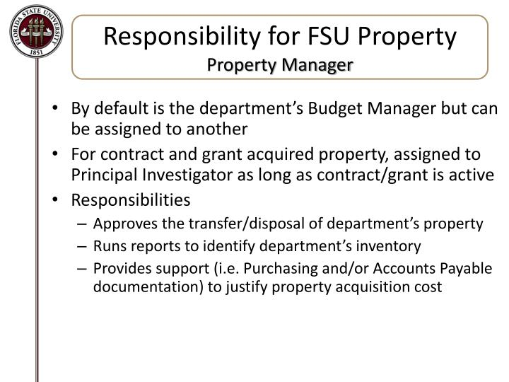 Responsibility for FSU