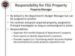 responsibility for fsu property property manager