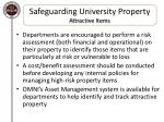 safeguarding university property attractive items