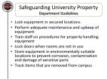 safeguarding university property department guidelines