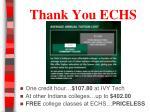 thank you echs
