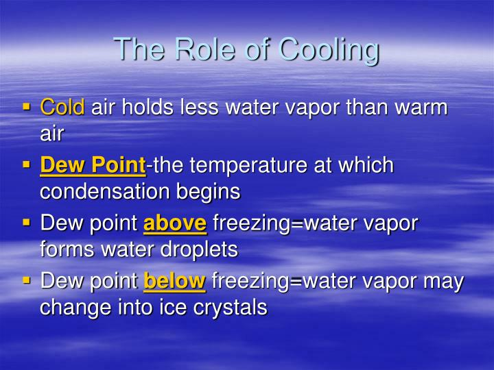 The Role of Cooling