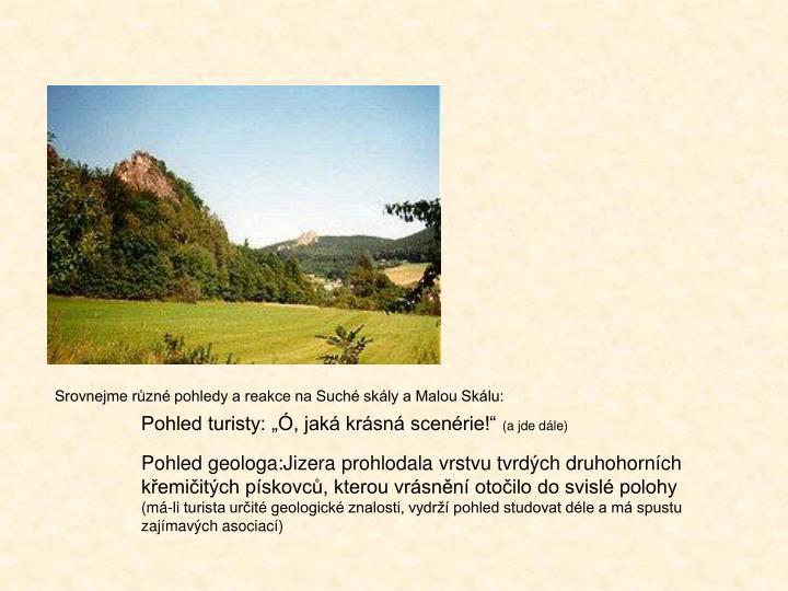 Srovnejme různé pohledy a reakce na Suché skály a Malou Skálu: