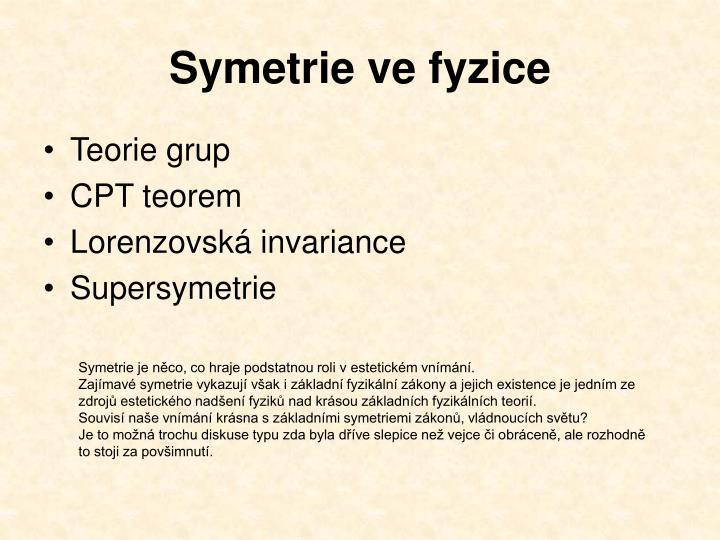 Symetrie ve fyzice