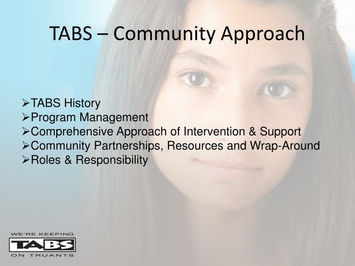 TABS – Community Approach