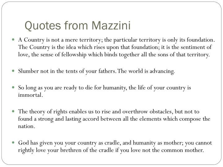 Quotes from Mazzini