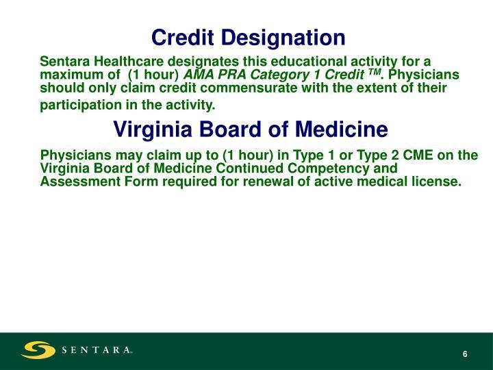 Credit Designation