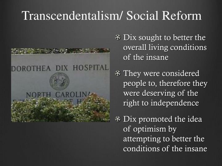 Transcendentalism/ Social Reform