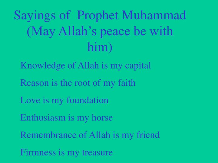 Love Quotes For Him Ppt : ... Muhammad (May Allahs peace be with him) PowerPoint PPT Presentation