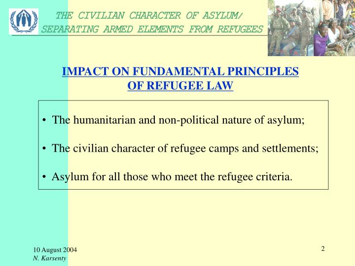 Impact on fundamental principles of refugee law