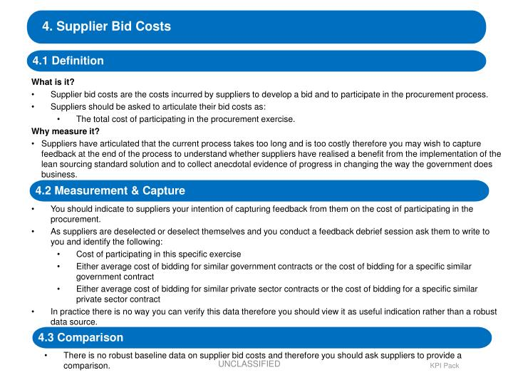 4. Supplier Bid Costs