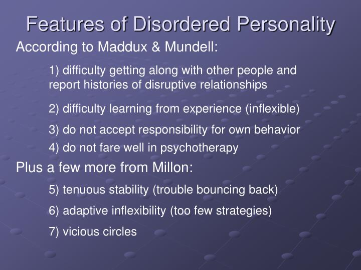 Features of Disordered Personality