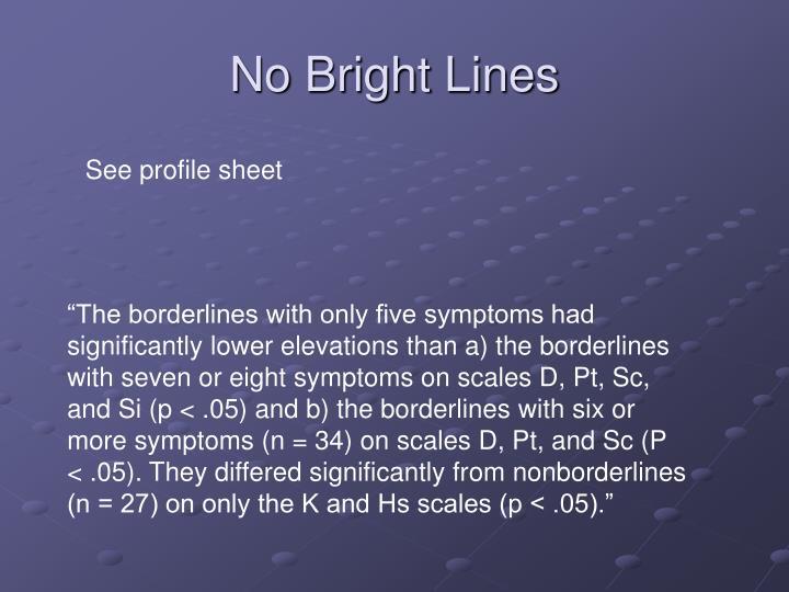 No Bright Lines