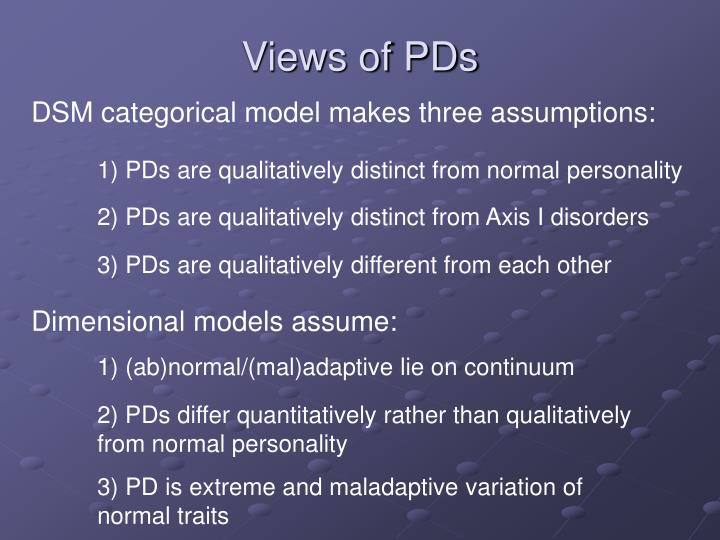 Views of PDs