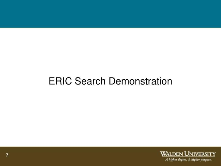 ERIC Search Demonstration
