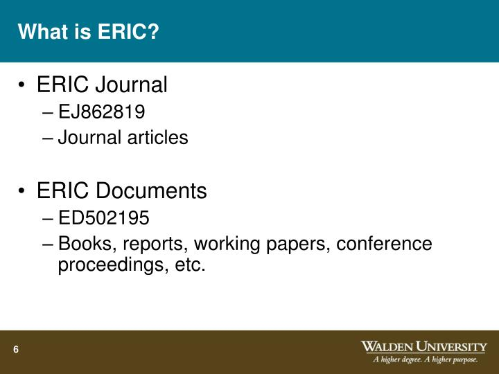 What is ERIC?