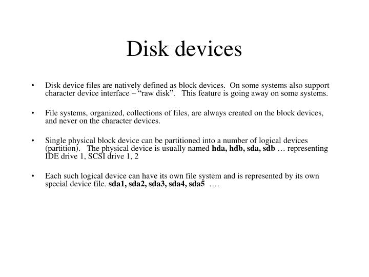 Disk devices