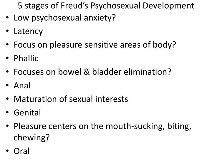 5 stages of Freud's Psychosexual Development