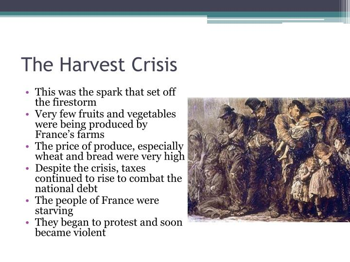 The Harvest Crisis