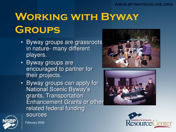 Working with byway groups