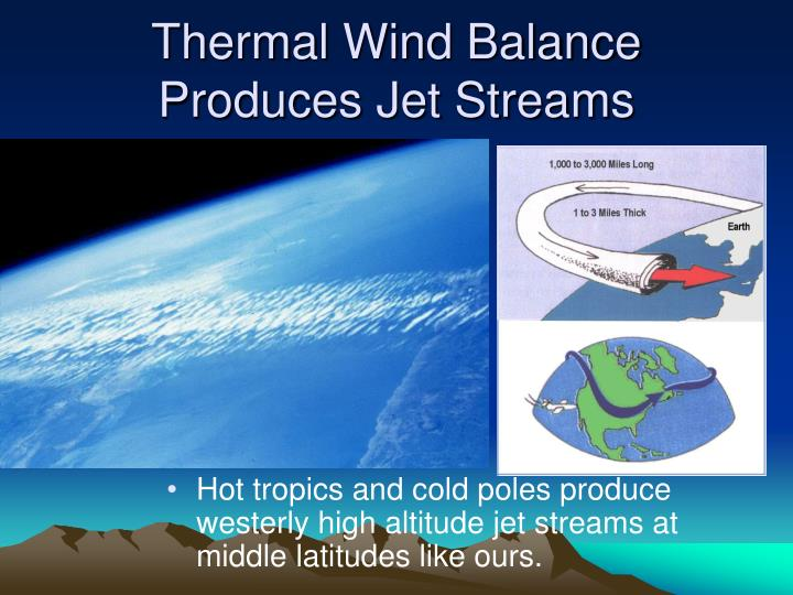 Thermal Wind Balance Produces Jet Streams