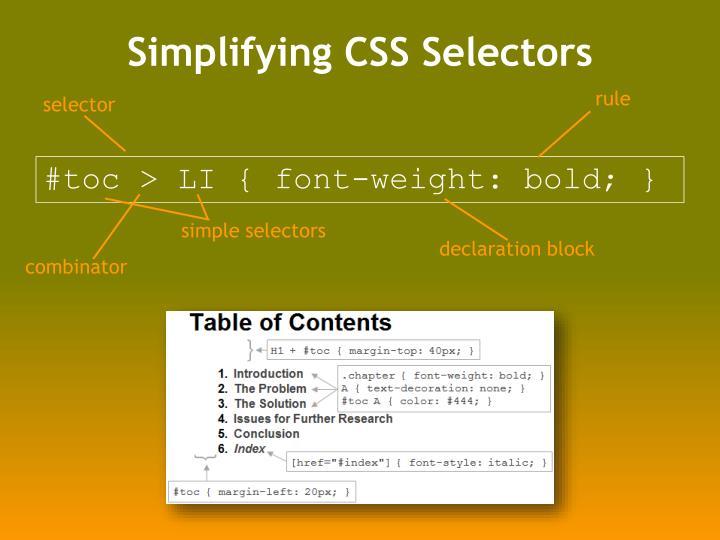Simplifying CSS Selectors