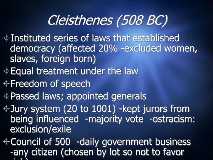 Cleisthenes (508 BC)