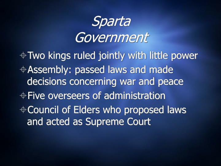 Sparta government