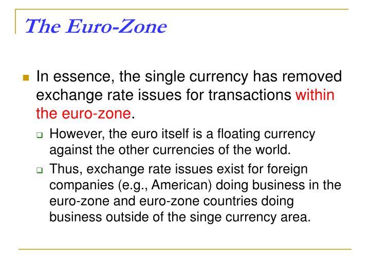 The Euro-Zone