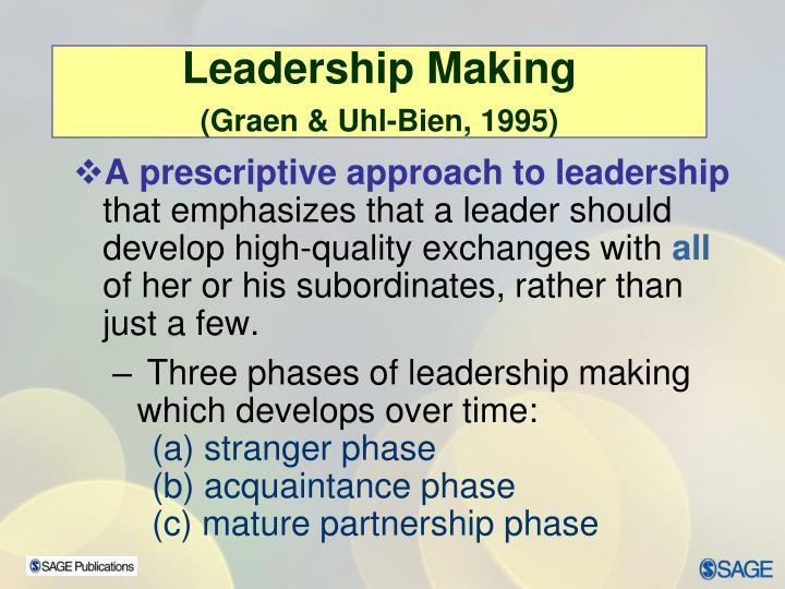 Leadership Making