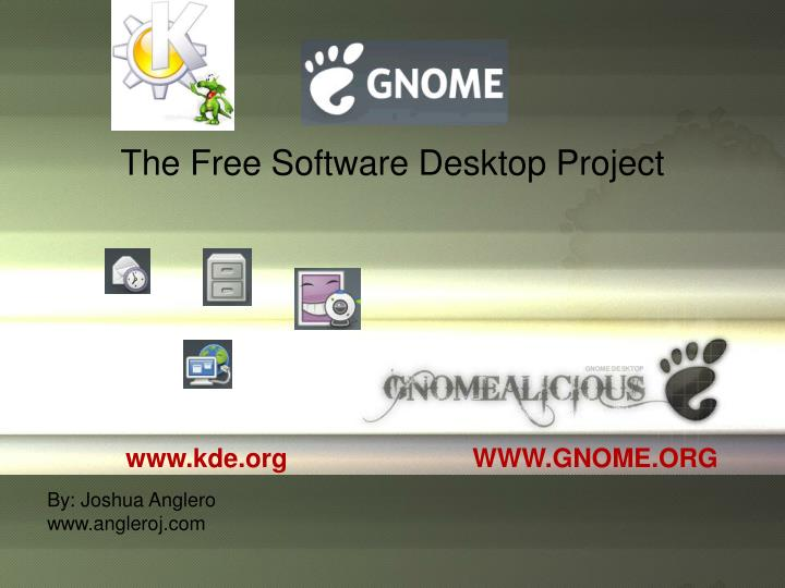 The Free Software Desktop Project