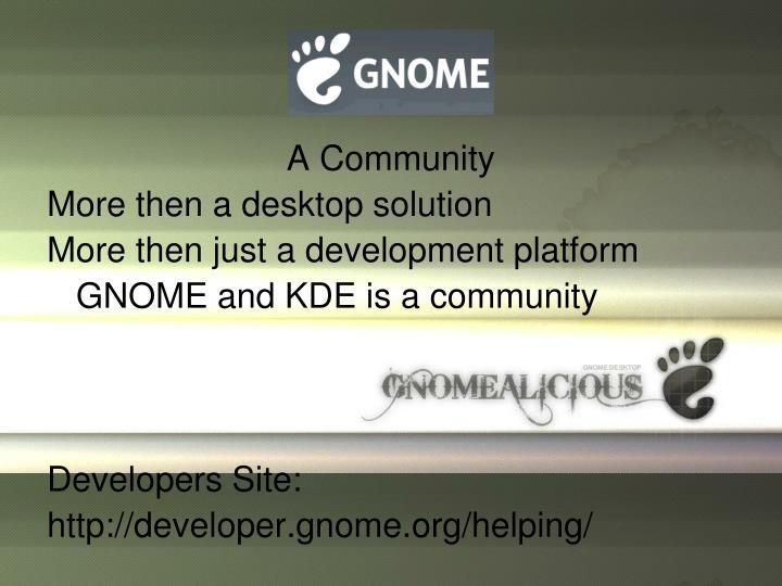 A Community