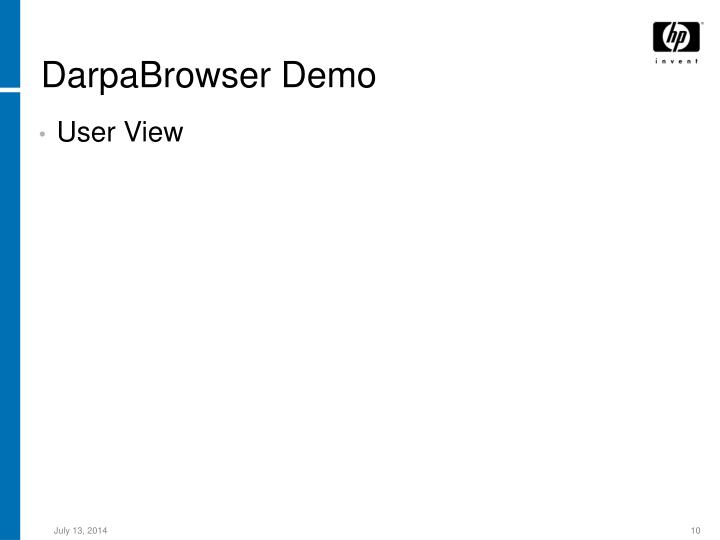 DarpaBrowser Demo