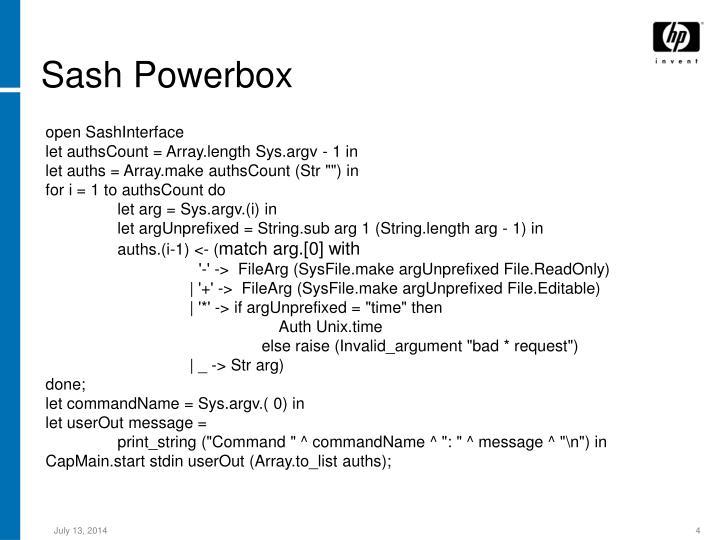 Sash Powerbox