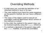 overriding methods